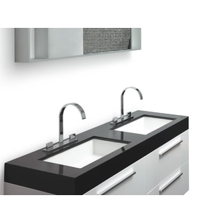 Modern Design Malaga White Double Sink Bathroom Vanity