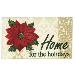 Nourison Accent Décor Home for Holiday Beige Accent Rug (1'10 x 3')