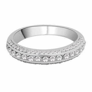 14K White Gold 1/2ct TDW Diamond Wedding Band