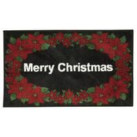Nourison Accent Décor Merry Christmas Black Accent Rug (1'6 x 2'6)