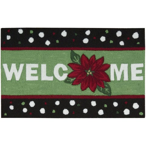 "Nourison Everywhere Welcome Green Accent Rug - 1'8"" x 2'6"""