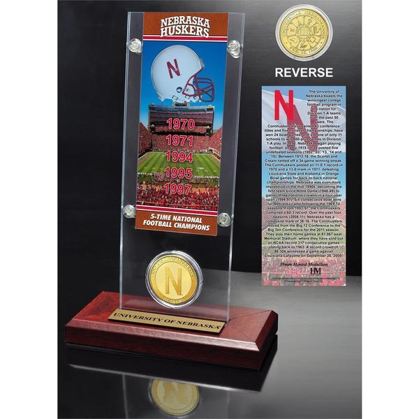 University of Nebraska Ticket & Bronze Coin Acrylic Desk Top