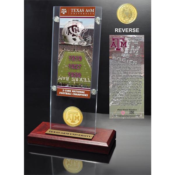 Texas A&M University Ticket & Bronze Coin Acrylic Desk Top