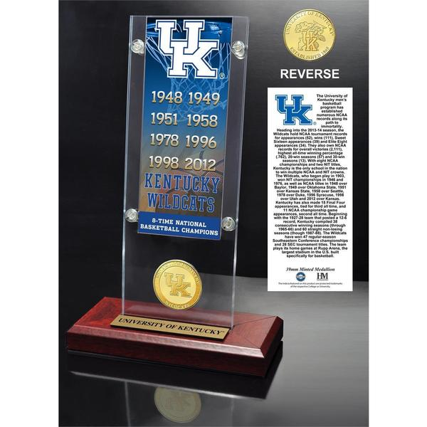 University of Kentucky Ticket & Bronze Coin Acrylic Desk Top