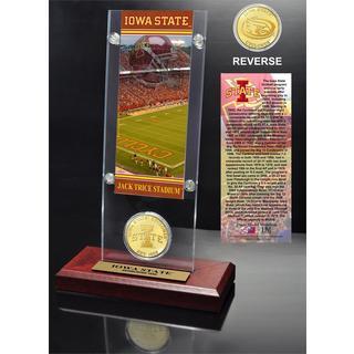 Iowa State University Ticket & Bronze Coin Desk Top Acrylic