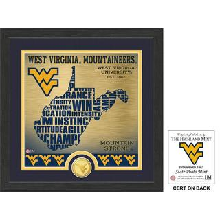 "West Virginia University ""State"" Bronze Coin Photo Mint"