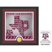 "Texas A&M University ""State"" Bronze Coin Photo Mint"