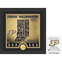 "Purdue University ""State"" Bronze Coin Photo Mint"