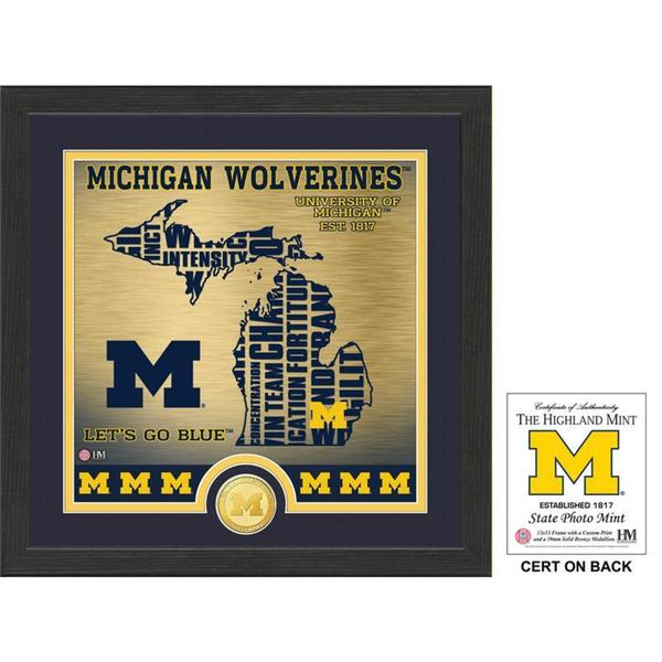 "University of Michigan ""State"" Bronze Coin Photo Mint"