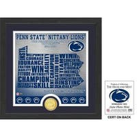 "Penn State University ""State"" Bronze Coin Photo Mint"