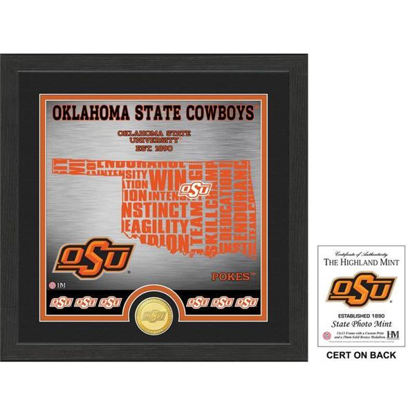 "Oklahoma State University ""State"" Bronze Coin Photo Mint"