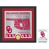 "University of Oklahoma ""State"" Bronze Coin Photo Mint"