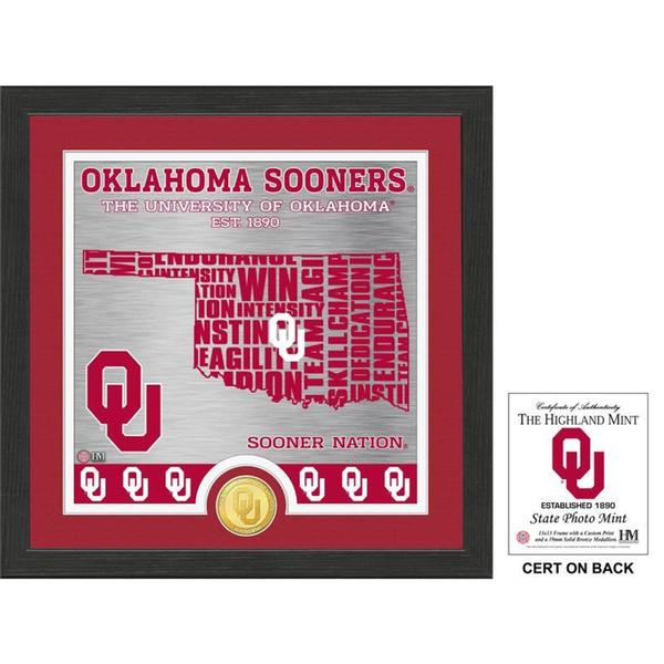 """University of Oklahoma """"State"""" Bronze Coin Photo Mint - Multi-color"""