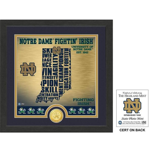 "University of Notre Dame ""State"" Bronze Coin Photo Mint"