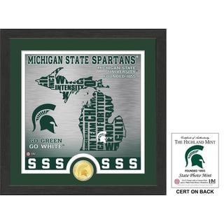 "Michigan State University ""State"" Bronze Coin Photo Mint"