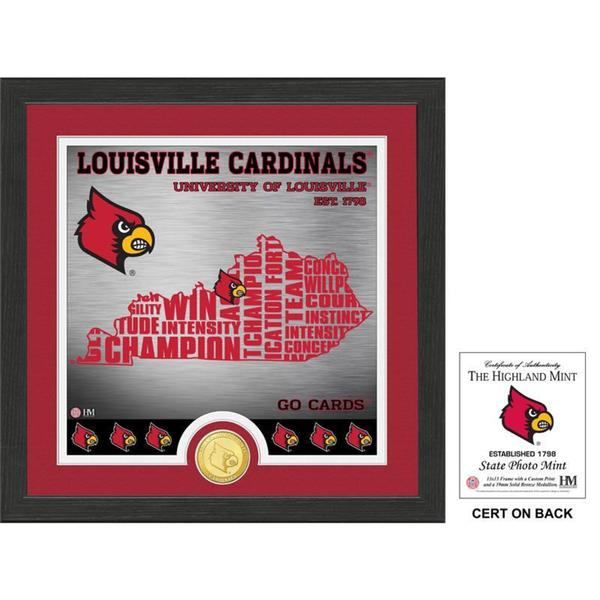 """University of Louisville """"State"""" Bronze Coin Photo Mint"""