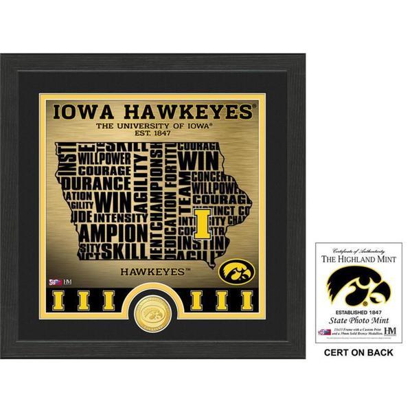 "University of Iowa ""State"" Bronze Coin Photo Mint"
