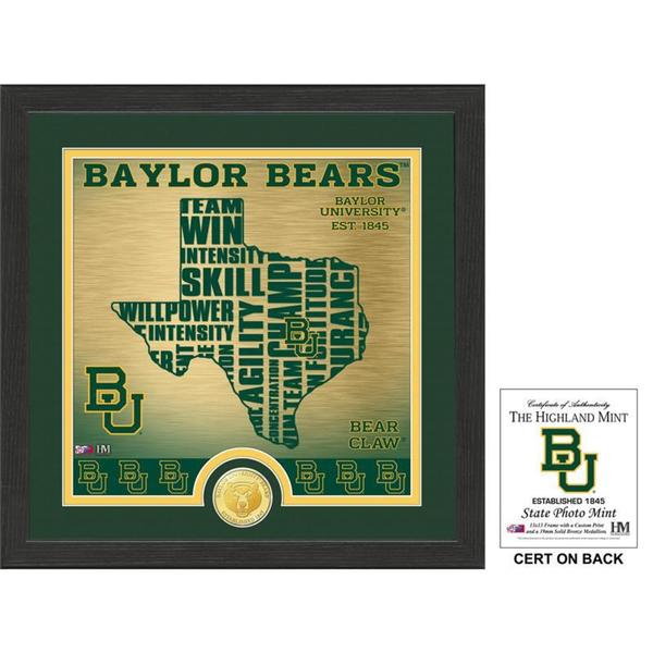 "Baylor University ""State"" Bronze Coin Photo Mint"