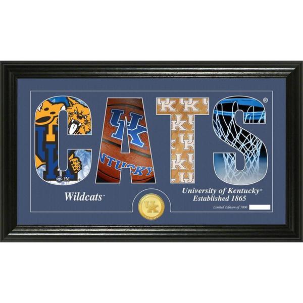 "University of Kentucky Basketball ""Silhouette"" Panoramic Bronze Coin Photo Mint"