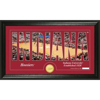 "Indiana University Basketball ""Silhouette"" Panoramic Bronze Coin Photo Mint"