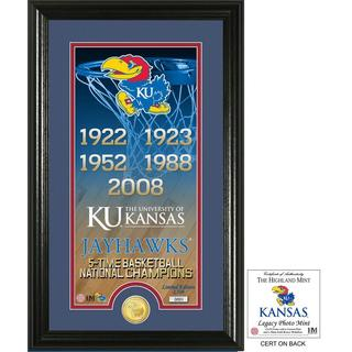"University of Kansas Basketball ""Legacy"" Bronze Coin Photo Mint"