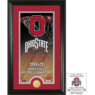"""Ohio State University Basketball """"Legacy"""" Silver Coin Photo Mint"""