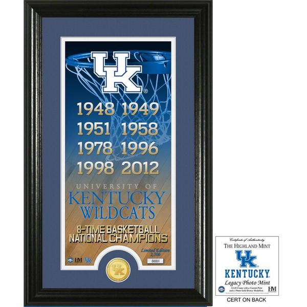 "University of Kentucky Basketball ""Legacy"" Bronze Coin Photo Mint"