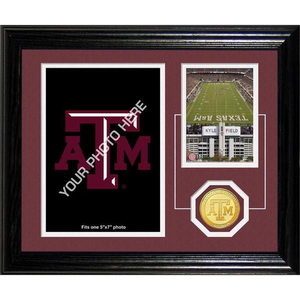 "Texas A&M University ""Fan Memories"" Bronze Coin Desk Top Photo Mint"