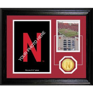"University of Nebraska ""Fan Memories"" Bronze Coin Desk Top Photo Mint"