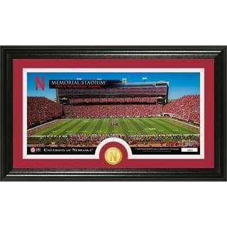 """University of Nebraska """"Stadium"""" Panoramic Bronze Coin Photo Mint"""