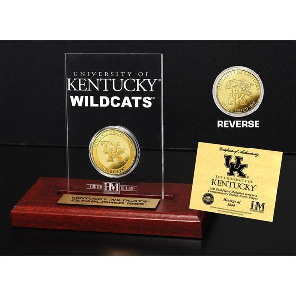 University of Kentucky Gold Coin Etched Acrylic