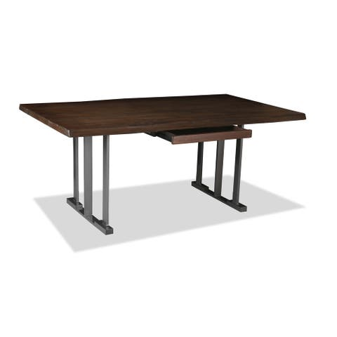 Catalina Hardwood and Wrought Iron Live Edge Desk