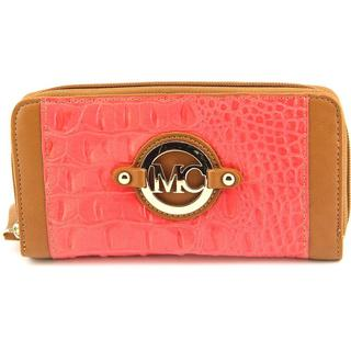 Madi Claire Women's Christi Pink Leather Wallet