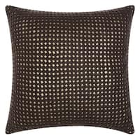 Mina Victory Natural Hide Woven Metallic Brown/ Gold Throw Pillow by Nourison (20-Inch X 20-Inch)