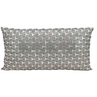 Mina Victory Natural Hide Dragon Claw Silver/ White 12 x 24-inch Throw Pillow by Nourison