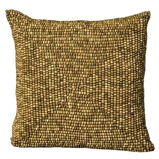 Mina Victory Wood Beads Green Throw Pillow (24-inch x 24-inch) by Nourison