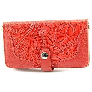 Madi Claire Women's 'Martina ' Red Leather Handbag