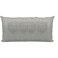 Mina Victory Natural Hide Arabic Geometric Silver/ White Throw Pillow by Nourison (12-Inch X 24-Inch)
