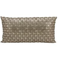 Mina Victory Natural Hide Dragon Claw Gold/ Beige 12 x 24-inch Throw Pillow by Nourison