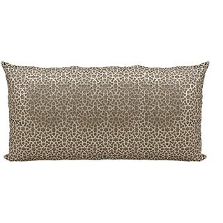 Mina Victory Natural Hide Arabic Geometric Gold/ Beige 12 x 24-inch Throw Pillow by Nourison