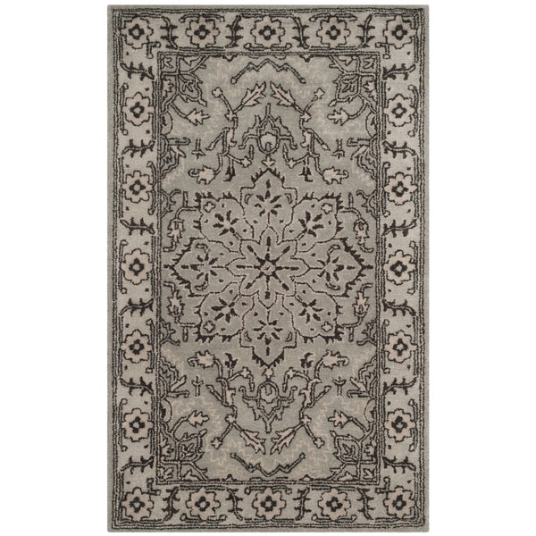Safavieh Handmade Antiquity Grey / Beige Wool Rug - 2' x 3'