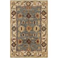 Safavieh Handmade Antiquity Blue / Ivory Wool Rug - 2' x 3'