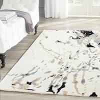 Safavieh Handmade Bella Modern Abstract Ivory / Grey Wool Rug - 2'6 x 4'