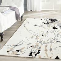 Safavieh Handmade Bella Modern Abstract Ivory / Grey Wool Rug - 2' x 3'