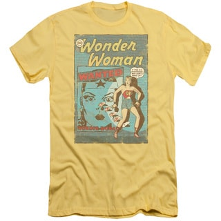 DC/Ww Wanted Short Sleeve Adult T-Shirt 30/1 in Banana