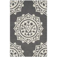 Safavieh Handmade Bella Dark Grey / Ivory Wool Rug (2' x 4')