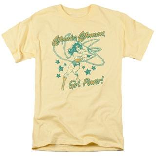 DC/Ww Girl Power Short Sleeve Adult T-Shirt 18/1 in Banana