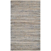 Safavieh Hand-Woven Cape Cod Natural / Blue Jute Rug - 2' x 4'