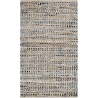"Safavieh Hand-Woven Cape Cod Stripe Natural/ Blue Jute Rug - 2'3"" x 4'"