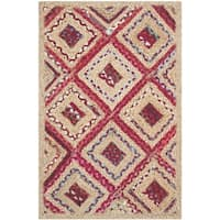 Safavieh Hand-Woven Cape Cod Natural / Red Jute Rug - 2' x 4'